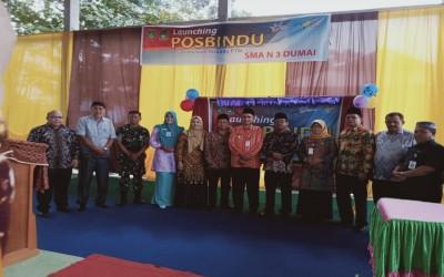 Lounching Pospindu PTM dan Penandatanganan MuO antara SMAN 3 Dumai dan Puskesmas Bukit Kapur