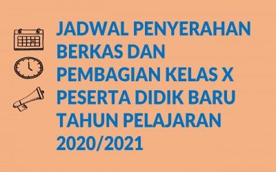 Berkas dan Pembagian Kelas Peserta Didik Baru TP. 2020/2021
